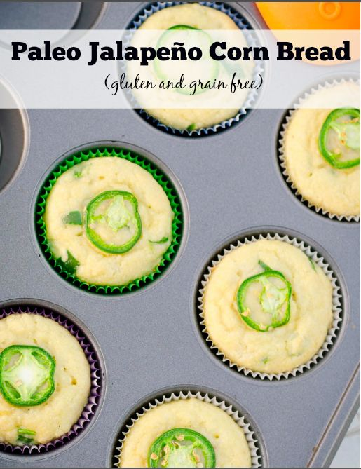 Paleo Jalapeño Corn Bread (from PaleoMagazine) - www.savorylotus.com #paleo #glutenfree