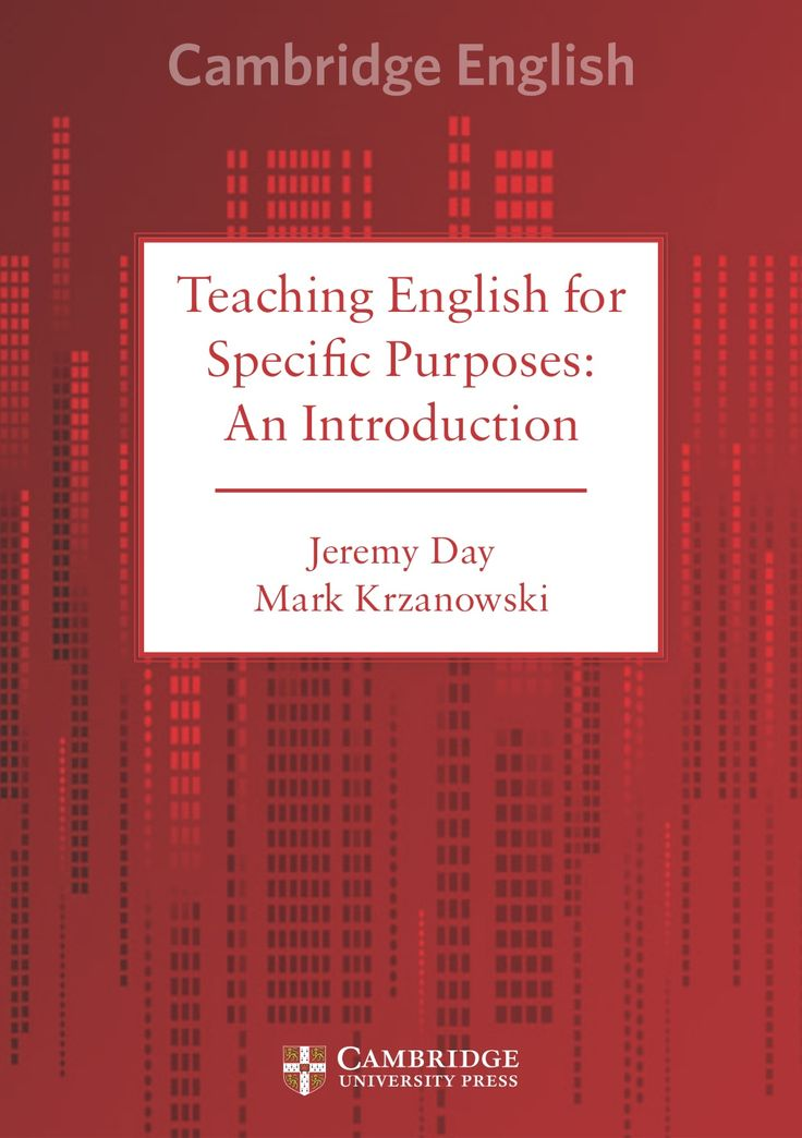 english for specific purposes book