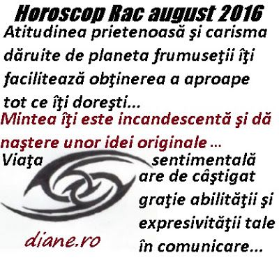 diane.ro: Horoscop Rac august 2016