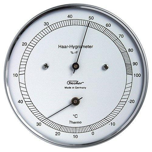 Fischer Haar-Hygrometer mit Thermometer