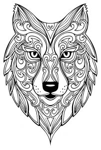 coloring page wolf 2