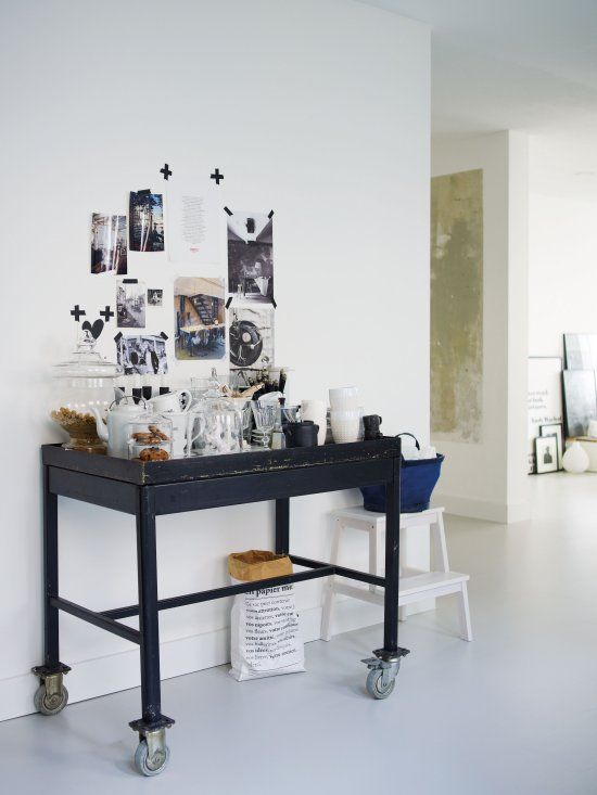 Desiree's beautiful black and white home