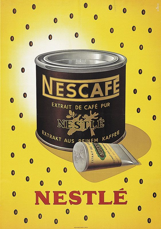 Nescafé vintage coffee advert - 1940 - André Simon
