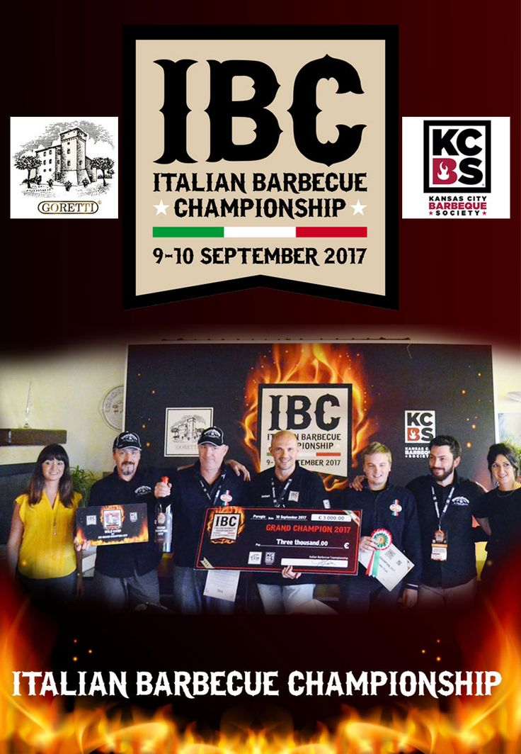 Italian Barbecue Championship 2017 Grand Champion: BrigBoys BBQ Team, Reserve Champion: Sticky Fingers BBQ Team
