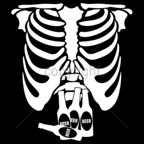 Funny Drinking Tshirt Beer Belly Tuxedo Rib Cage Bottle Drunk Alcohol Party Pong