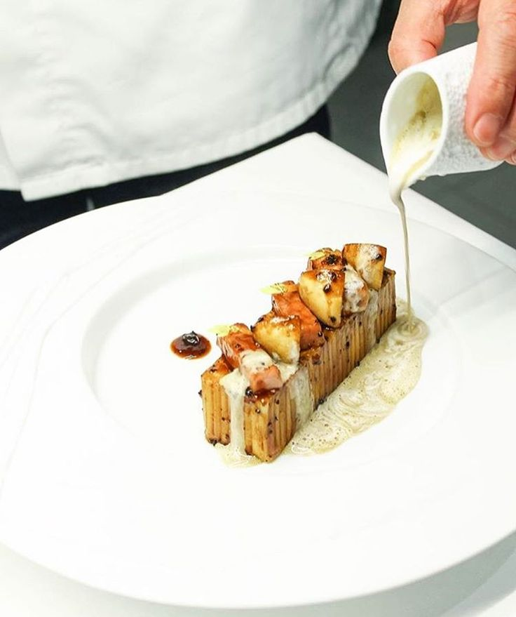 Chef Christian Le Squer's exquisite cuisine - Spaghetti with ceps mushrooms, ham and truffle