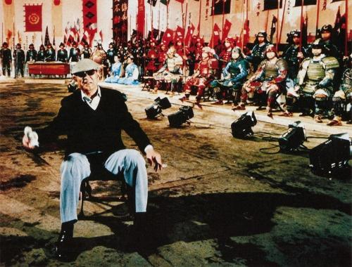 Akira Kurosawa on the set of Kagemusha.