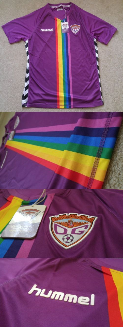 Soccer-International Clubs 2887: [Adult M] Club Deportivo Guadalajara Rainbow Spain Soccer Jersey Bnwt Hummel -> BUY IT NOW ONLY: $50 on eBay!