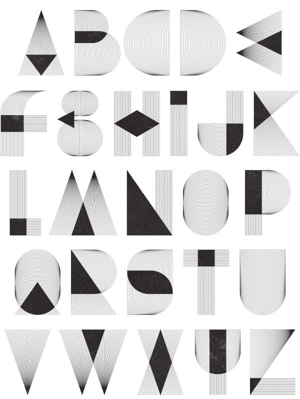 Alphabet shapes made by Patrick Seymour • typostrate - the typography and design blog