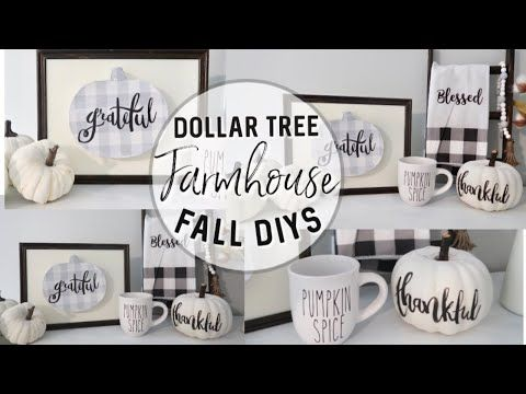 DIY DOLLAR TREE FALL DECOR 2019 | FARMHOUSE FALL D…