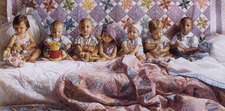 Запомните меня такой - Лоскутные одеяла в живописи. Дети и животные