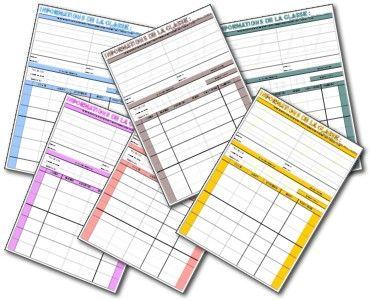 Informations classe, plan de classe, trombinoscope - Cahier De Bord