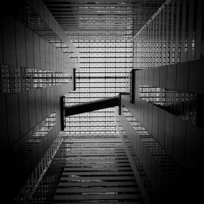 Atrium In Highrise Building Stock Photo 132792880