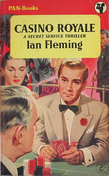 Casino Royale: Casino Royale - First Pan Books, UK, April 1955, Jacket designed by Roger H