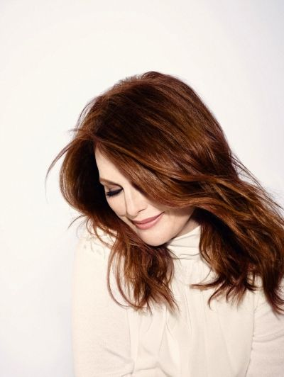 """Julianne Moore, """"You're not present if you're not enjoying where you are and who you are."""""""