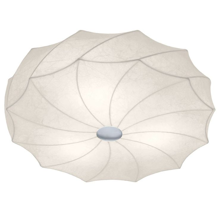 TEADORO Loftlampe - Cocoon rund loftlampe med hvid skærm.