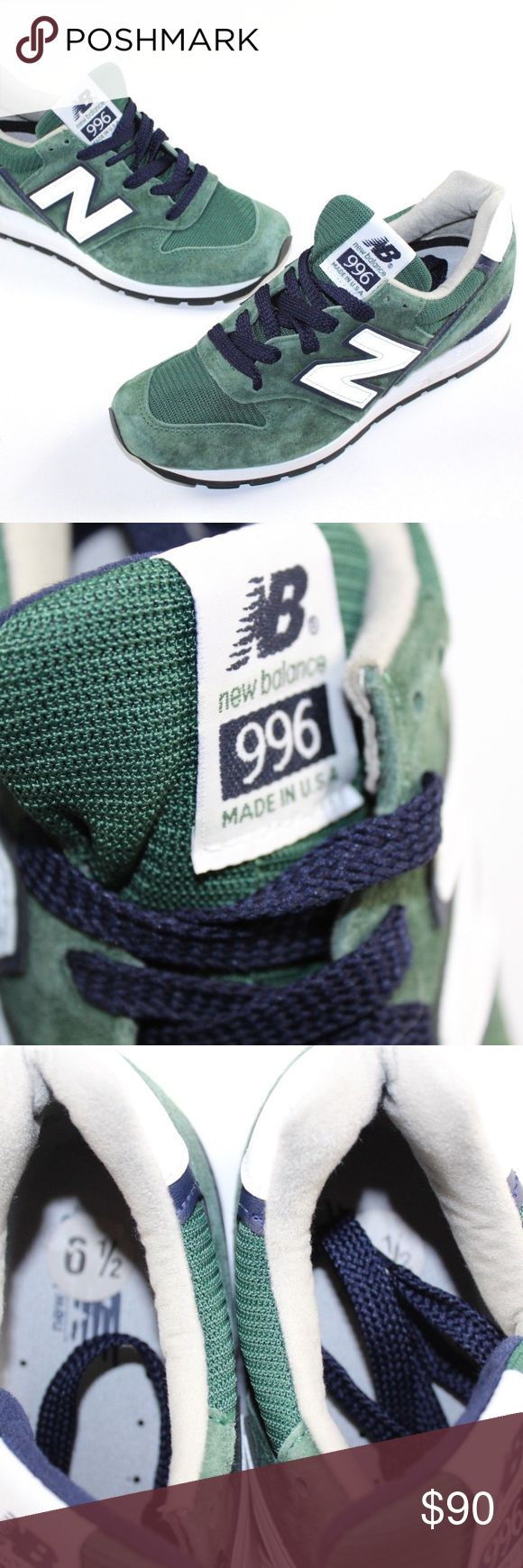 New New Balance 996 Heritage Suede Shoes St Pattys New Balance 996 Heritage Made in the USA Suede Sneakers  Shoes  New without box  Green  The size is US 6.5  Check out my other items in my store!  L4Bin New Balance Shoes Sneakers