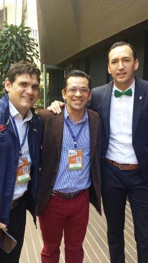 Eduardo Silva Meluk presidente del DIM y Juan Carlos de la Cuesta presidente del Atletico Nacional