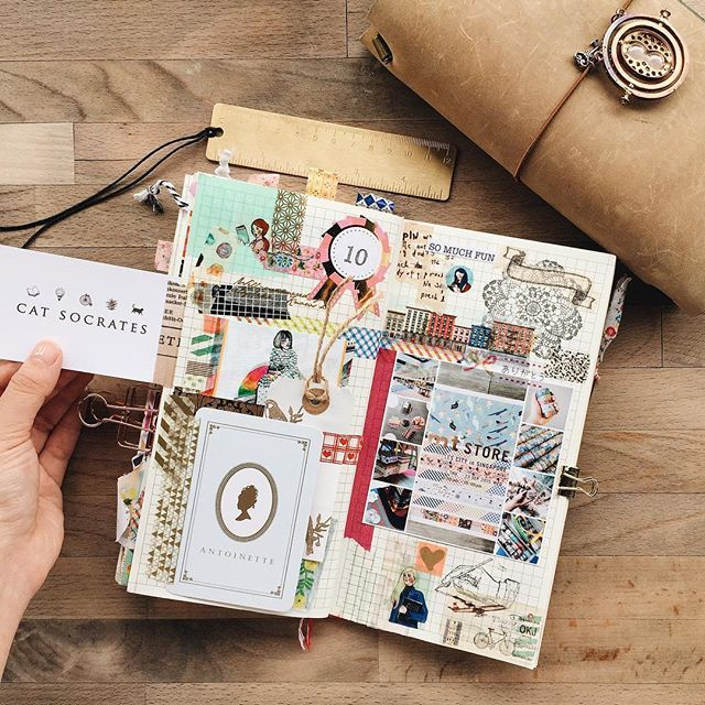 Traveler's Notebook - Entry in my #Midori #TravelersNotebook about my Singapore trip •So many entries in my TN about my Singapore trip because I had so much fun!•