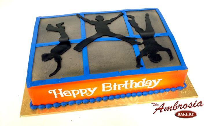 Trampoline FUN   The Ambrosia Bakery Cake Designs- Baton Rouge, La  