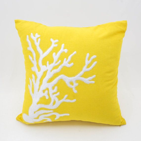 Coral Pillow CoverThrow Pillow Cover Decorative Pillow by KainKain