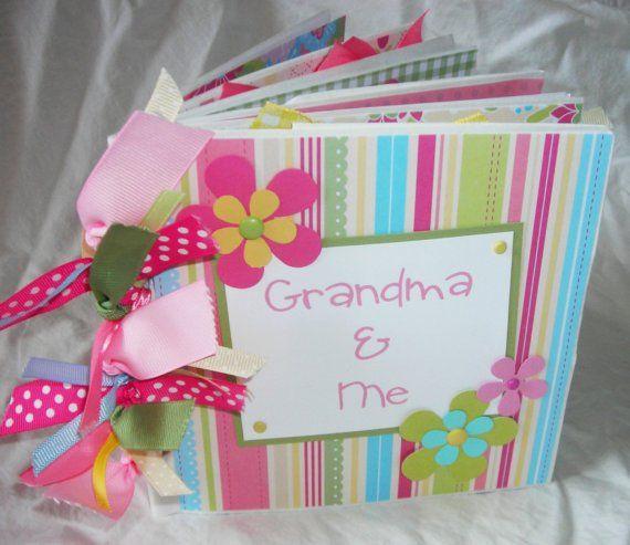 grandma grandpa with baby scrapbook page ideas | GRANDMA and ME premade PaPeR BaG Scrapbook Album brag book