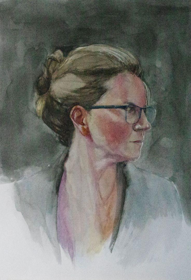 akwarela, portret kobiety, watercolor portrait