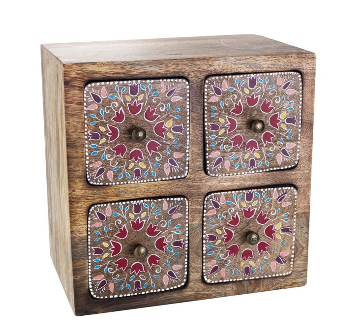#sainsburys  @autumndreamhome The folk-inspired pattern of this four-drawer storage unit is simply irresistible.  Priced at £25.