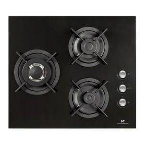 Plaque Gaz CONTINENTAL EDISON CTG3VB - Table de cuisson gaz 3