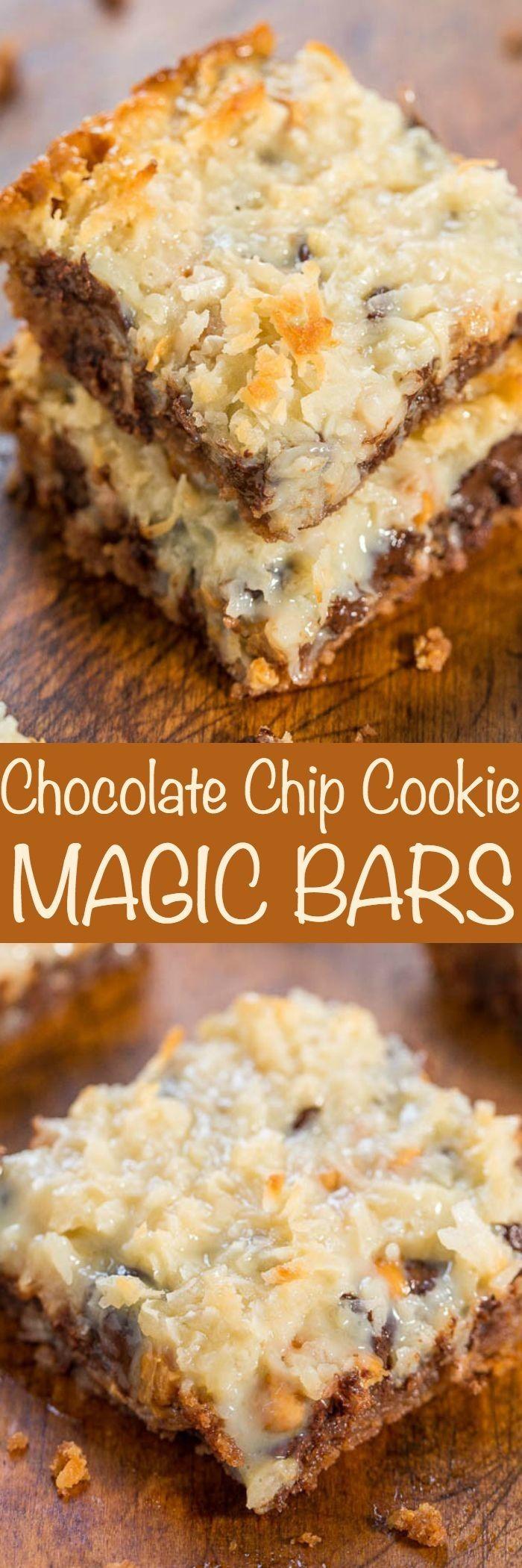 Chocolate Chip Cookie Magic Bars | CookJino