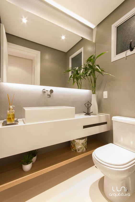 17 mejores ideas sobre cuartos de ba os peque os en - Espejos para lavabos ...