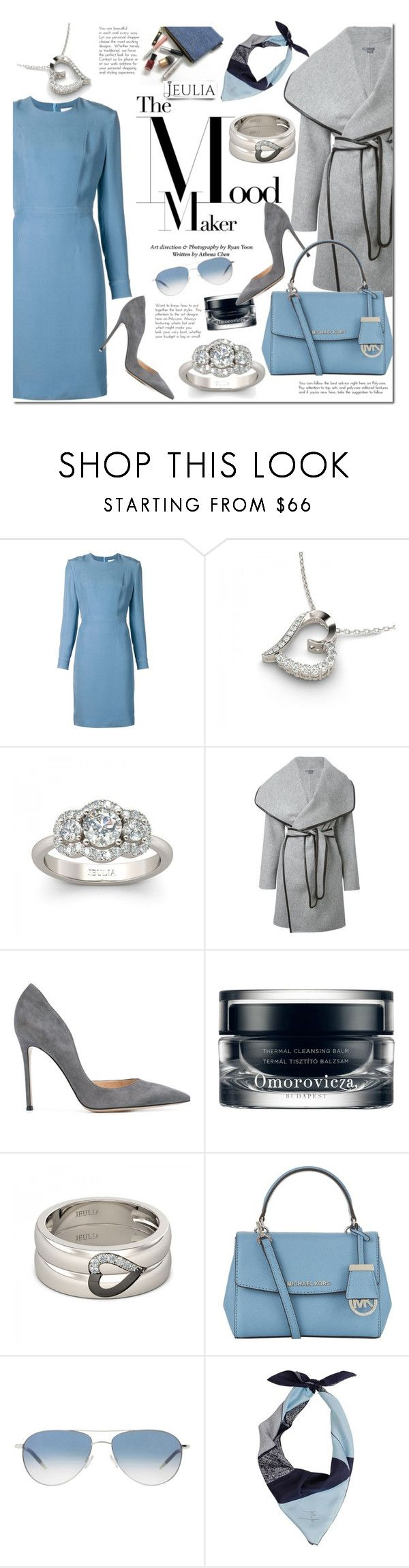"""Jeulia"" by mada-malureanu ❤ liked on Polyvore featuring Alexander Lewis, Vince, Gianvito Rossi, Omorovicza, MICHAEL Michael Kors, Oliver Peoples, women's clothing, women's fashion, women and female"
