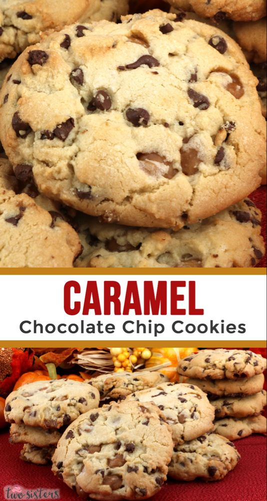 Caramel Chocolate Chip Cookies – a fun and delicious Christmas Treat that is per…