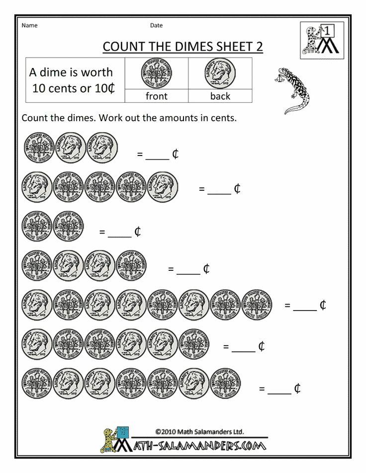 Free Math Money Worksheets adding pennies, nickels
