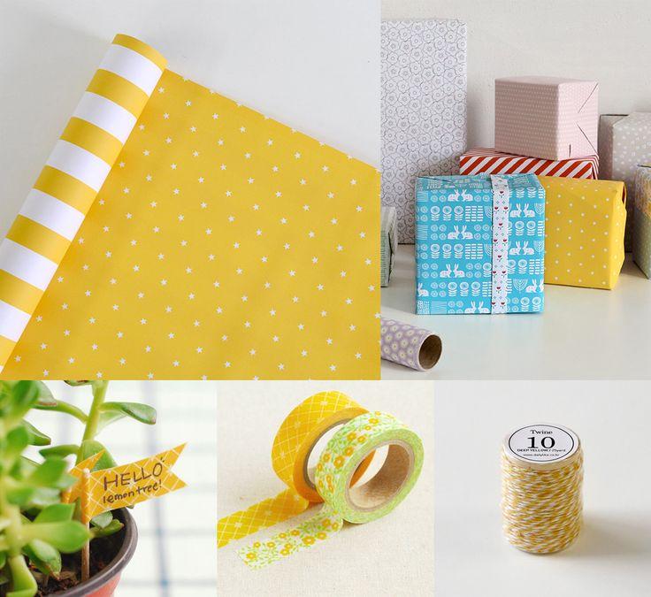 ¡Hoy tenemos un día amarillo! ¡Todo lo que necesitas para que tus paquetes sean tan bonitos como el regalo que esconden en su interior! #Zoográfico #Dailylike