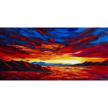 油絵/Sunset over the Sea by Willson Lau