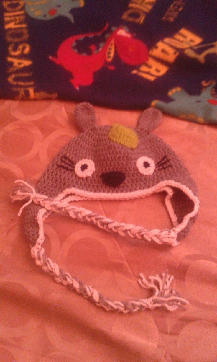 #totoro gorro tejido a crochet