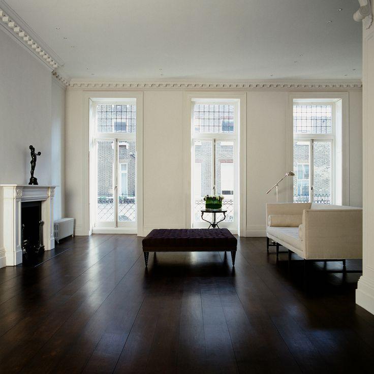 Living Room Hardwood Floor: Home Decorating Pictures : Dark Grey Wood Floors