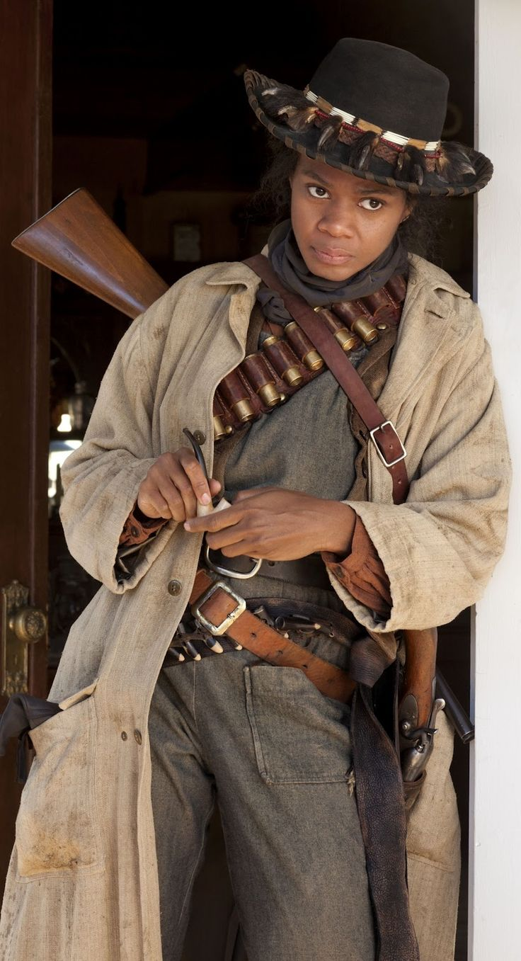 image from motion picture paying homage to the heroic African American cowgirl of the old west - Stagecoach Mary Fields. Black Steampunk bringing back a lot of forgotten history!