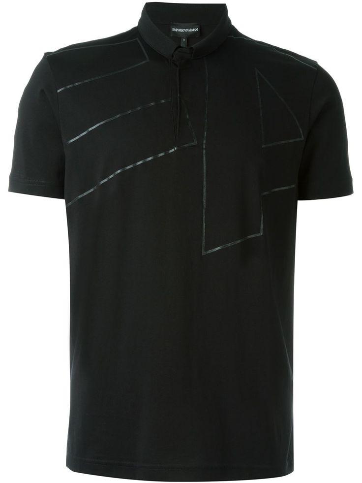 Emporio Armani Camisa polo com estampa