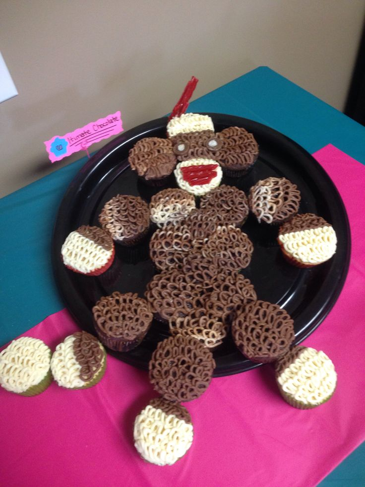 sock monkey cupcakes sock monkeys ultimate chocolate socks cupcake ...