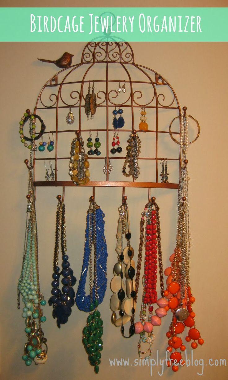 birdcage jewelry holder