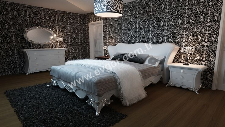Siyah Beyaz Yatak Odası Takımları | Yatak Odası Çalışmaları Fiyatları