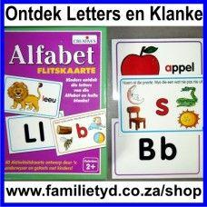 Afrikaanse Flitskaarte: 40 vir R80! Kinders ontdek die Letters van die Alfabet en hul Klanke! 40 Aktiwiteitskaarte ontwerp deur onderwysers en getoets deur kinders. Ouderdom 2+