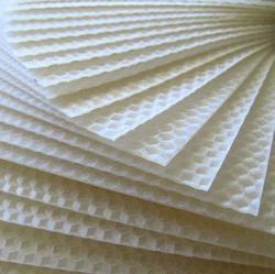 Sheets of pure honeycomb beeswax - natural, honey aroma-ed perfection.