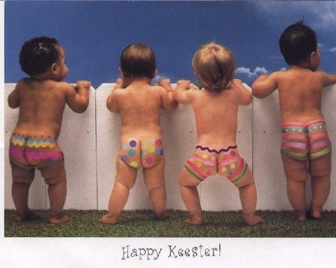 Easter picture idea.....Baby butts are my favorite!!! Love, love, love!
