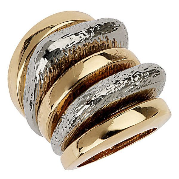 Topshop Stackable Rings (Set of 5) (175 CNY) found on chunky jewelry厚重配饰20130323