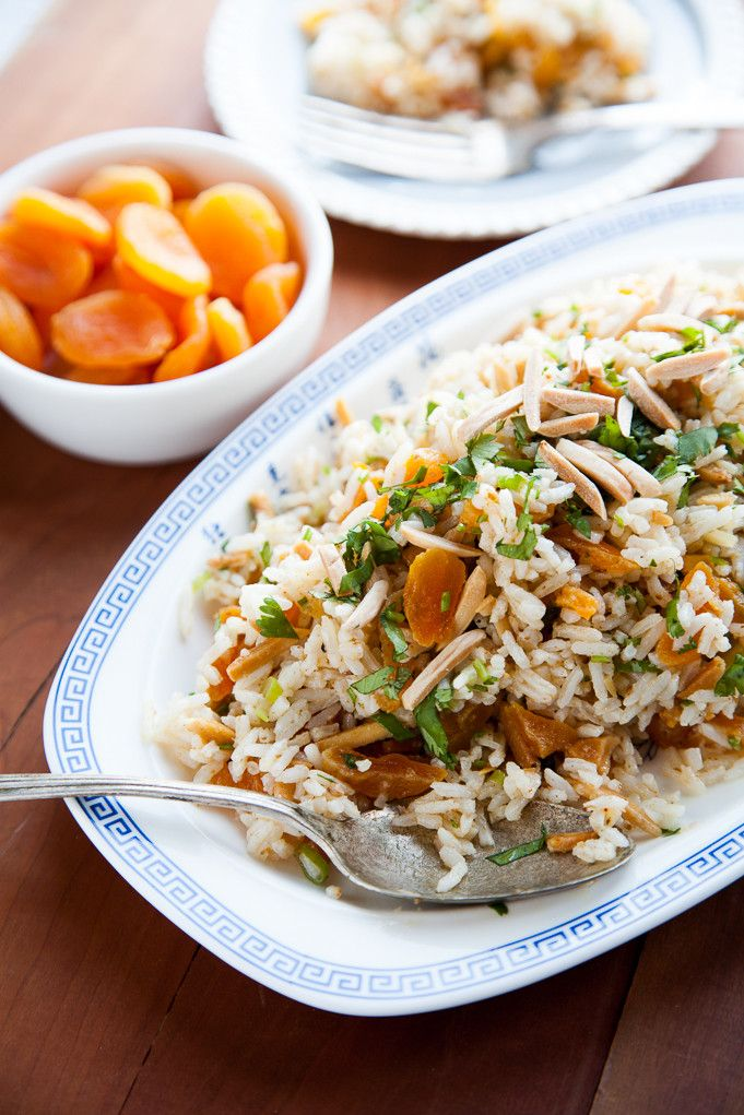 ... almond rice pilaf rice and almond short dough moroccan chicken apricot
