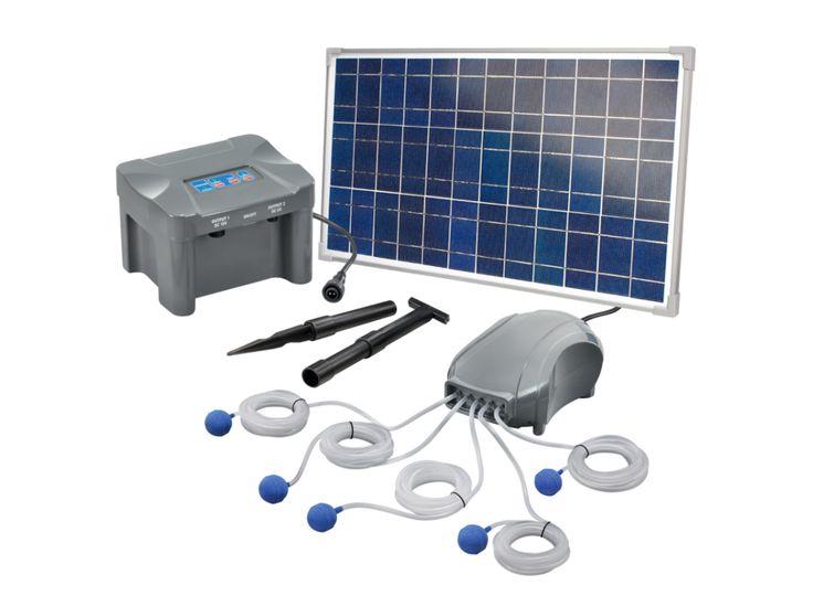 Oxigenador solar para estanques grandes 5 salidas