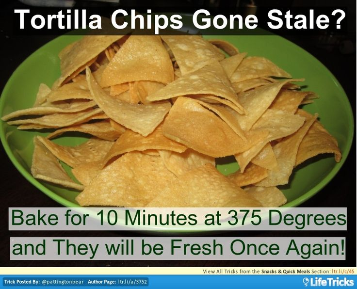 how to freshen stale tortilla chips